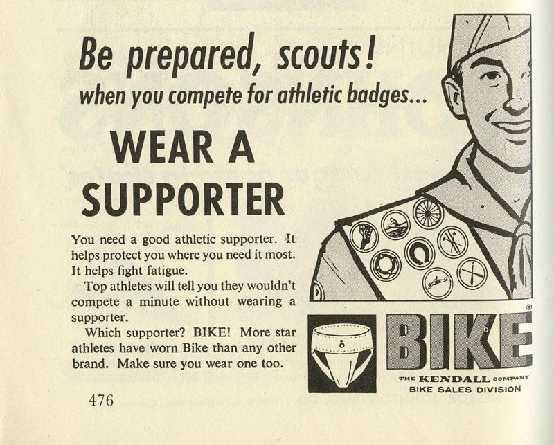 Be prepared, Scouts, wear ajockstrap