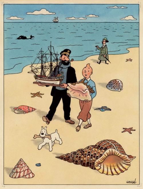 Tintin a laplage