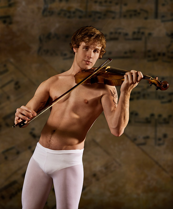 Gratuitous Shirtless Violinst