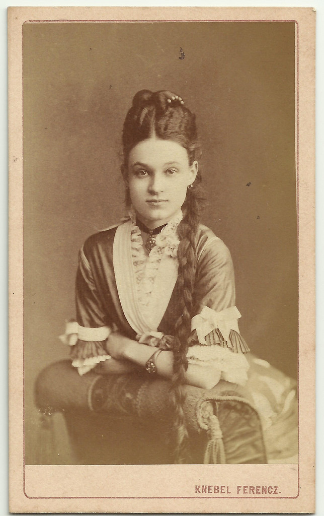 Woman with a long braid, 1800s (Hungary?)