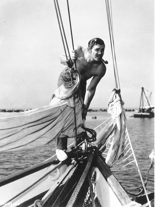 Clark Gable shirtless