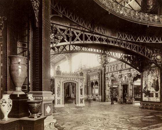 Paviljonki sisäpuolelta, Pariisin maailmannäyttely 1889