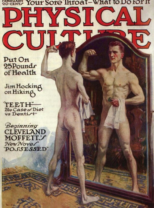 Leyendecker illustration on the cover of Physical Culture