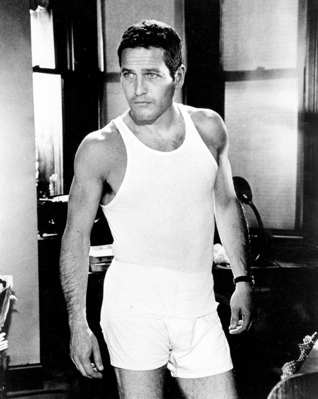 Paul Newman in his undergarments