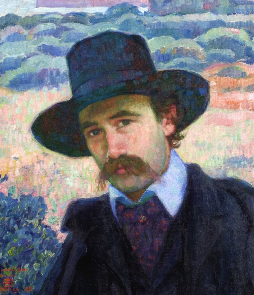Painting of a man with a stache