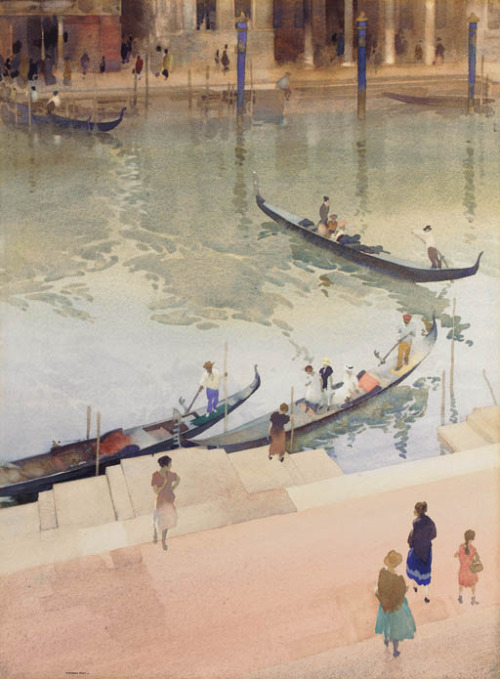 William Russell Flint : Traghetto, Grand Canal, Venice (1920)