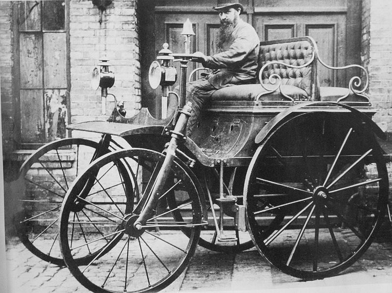"""A newfangled """"Horseless Carriage"""", 1888"""