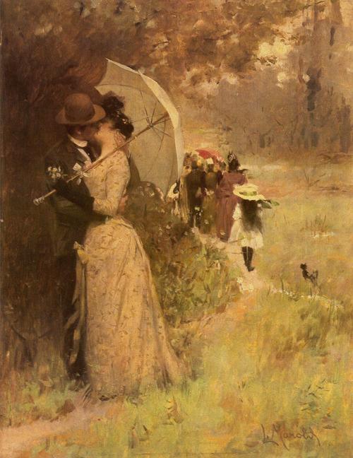 Painting by Ludek Marold,1895
