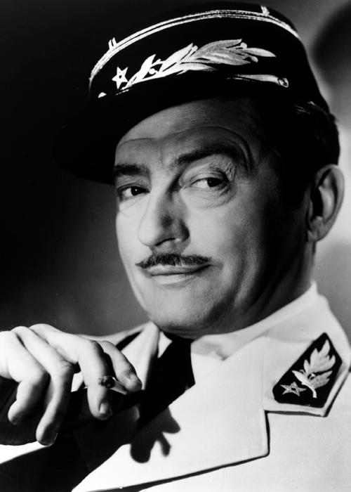 """Claude Raines in """"Casablanca"""", 1942"""