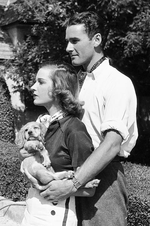 Errol Flynn and his first wife Lili Damita,1935