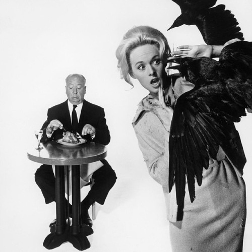 "Alfred Hitchcock and Tipi Hedren, ""The Birds"""