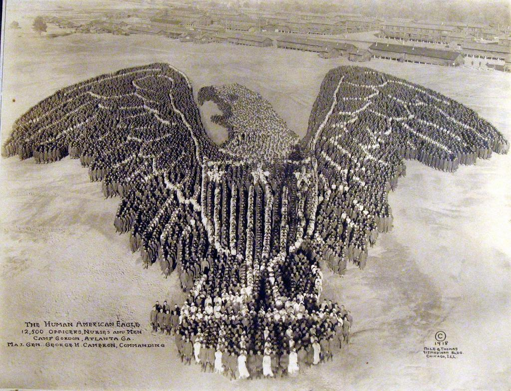 American eagle made up of 12,500 service members,1918