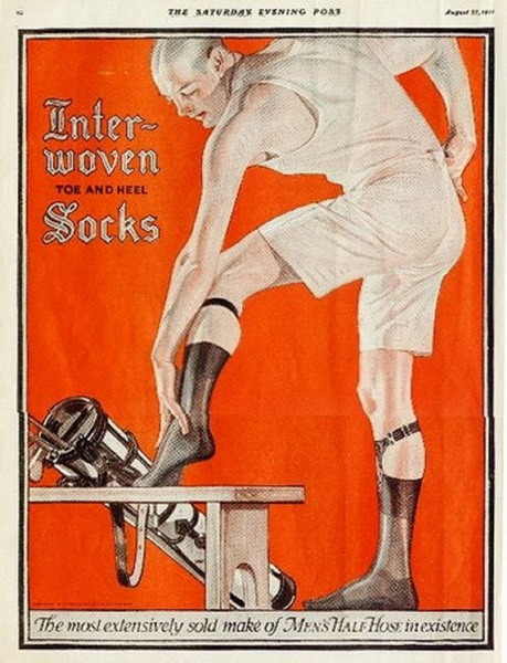 Interwoven half-hose socks for men, a Leyendecker illustration I think