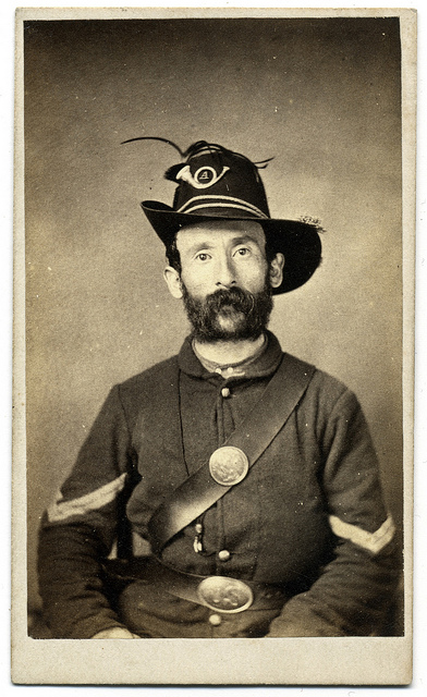 Jewish soldier from Pennsylvania, and his muttonchops, in the US/Northern/Yankee army, US Civil War