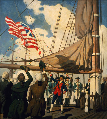 Birth of the US Navy by NC Wyeth