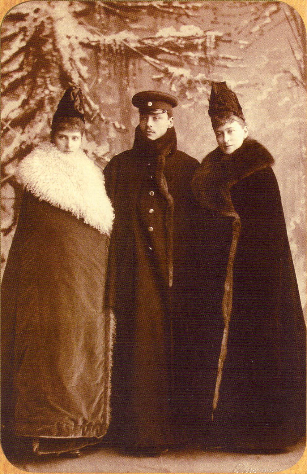 Russian royalty in winter garb