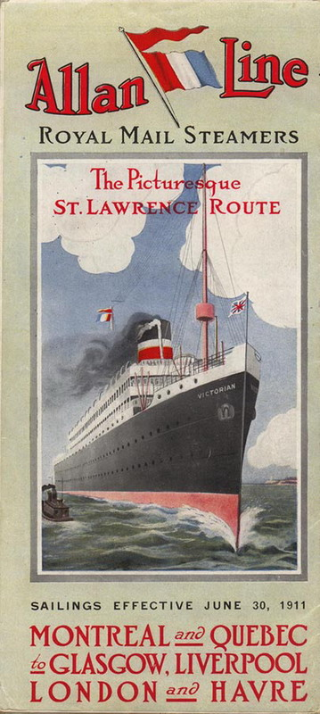 Montreal to Europe via the Allan Line,1911