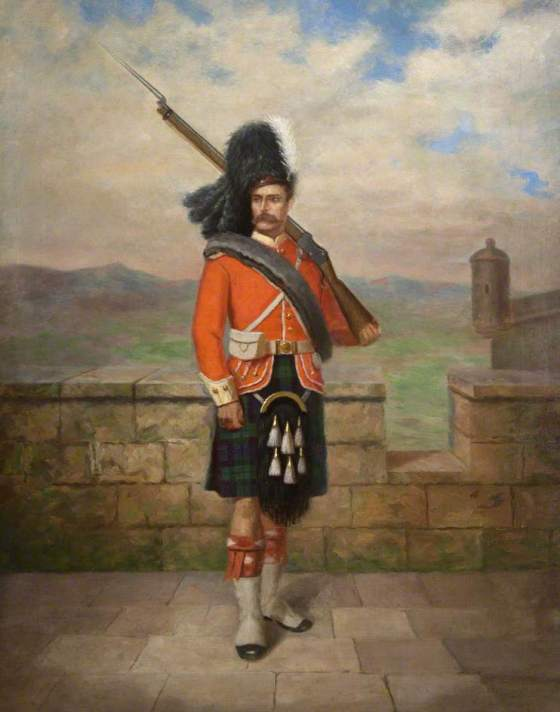 unknown artist; A Soldier; The Regimental Museum of the Argyll and Sutherland Highlanders; http://www.artuk.org/artworks/a-soldier-124198