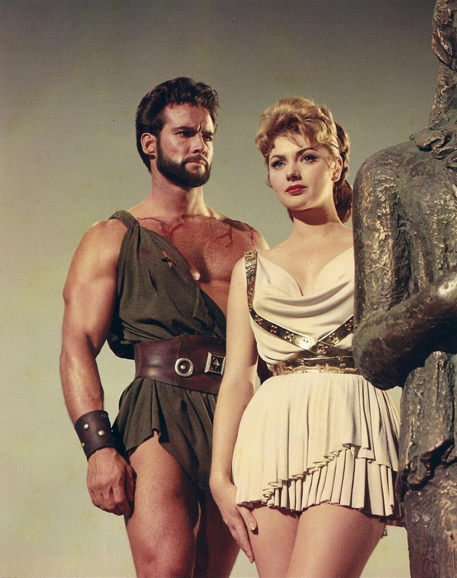 "Steve Reeves and Sylva Koscina in ""Hercules"", 1958"