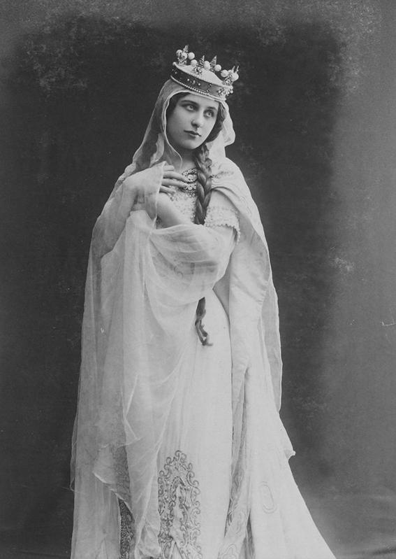 Vintage theatre actress