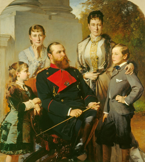 """""""The Family of the Grand Duke of Hesse"""" by Heinrich von Angeli,1879"""