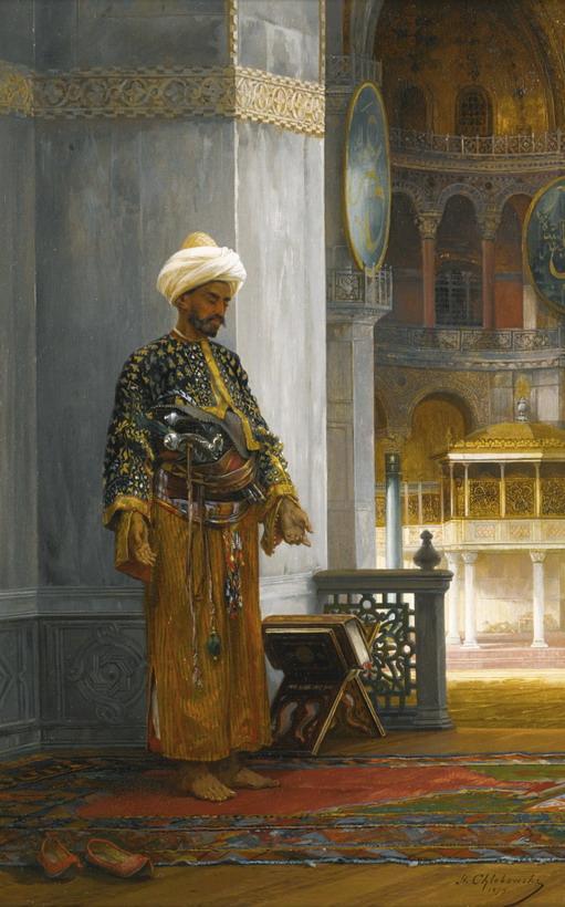 At Prayer, Hagia Sophia, 1879, Stanislaus von Chlebowski