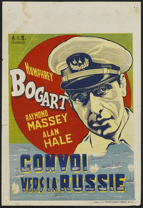 "Humphrey Bogart in ""Convoi vers la Russe""/""Action in the North Atlantic"", 1943"