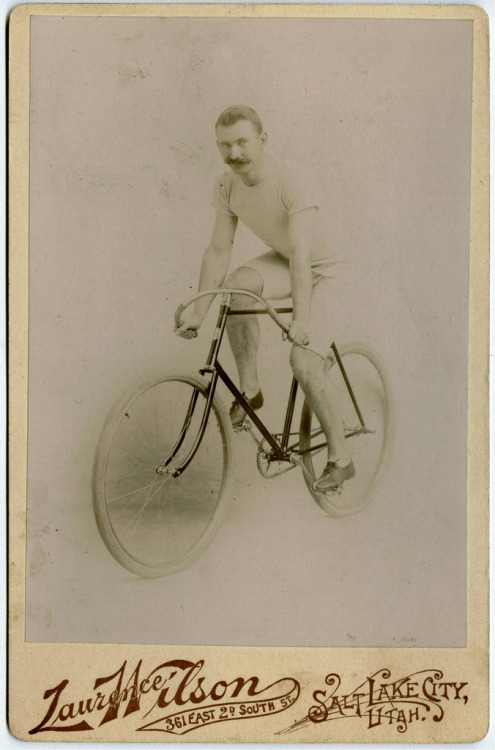 Mustachioed Bicyclist