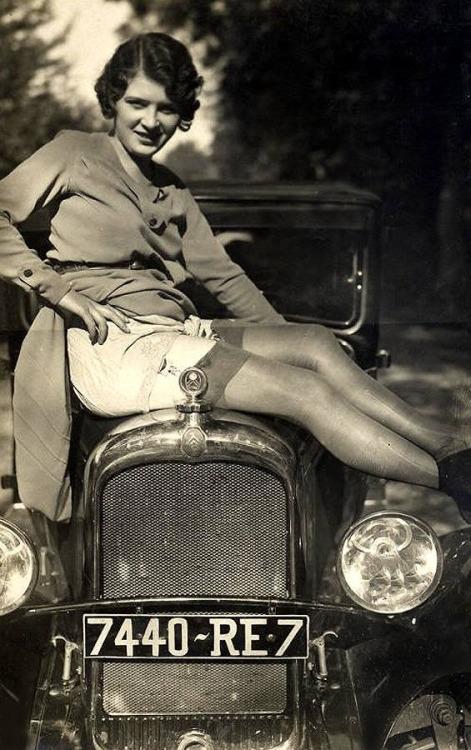 Showing a little leg, circa1930