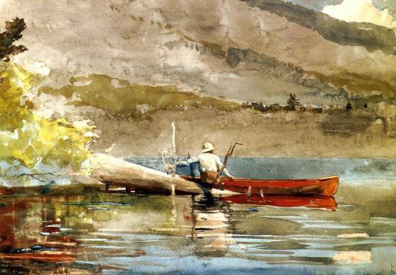 winslow homer red canoe