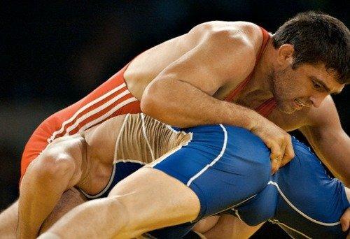 Gay wrestling photo