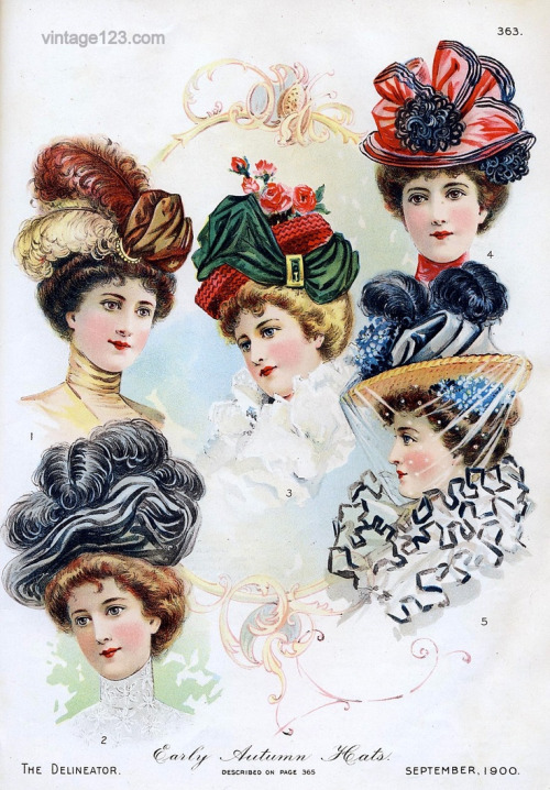 1900 Early Autumn Hats