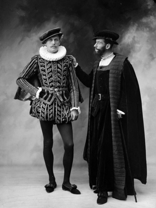 Actors in costumes