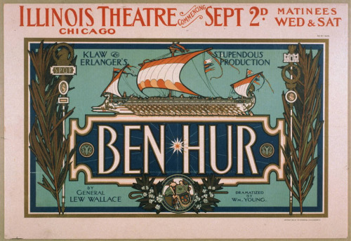 Stage production of Ben-Hur at the Illinois Theatre, Chicago