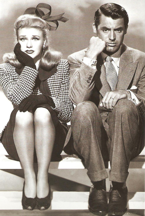 Ginger Rogers and Cary Grant