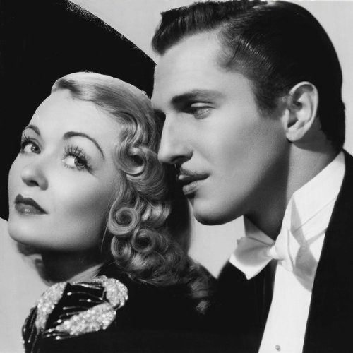 Constance Bennett and Vincent Price, 1939