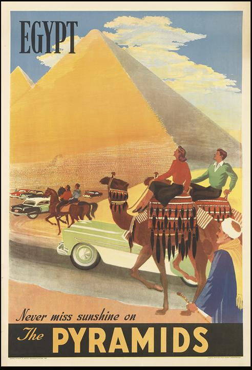 Egypt travel poster, early 1950s