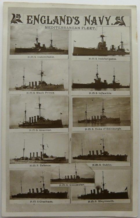 England's Navy, Mediterranean Fleet,WWI