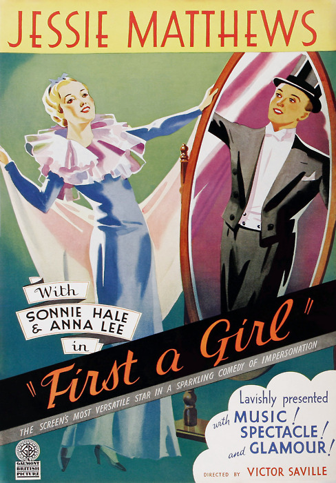 """""""First a Girl"""", a 1935 Victor Saville production about maleimpersonation"""
