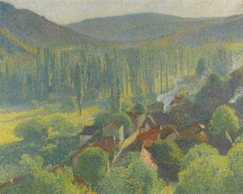 henri-martin-french-1860-1943-vue-des-toits-de-labastide-du-vert-c-1930