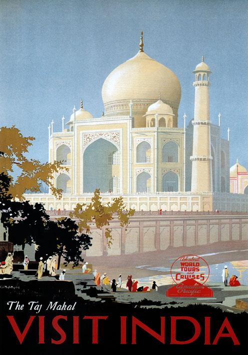 Vintage India TravelPoster