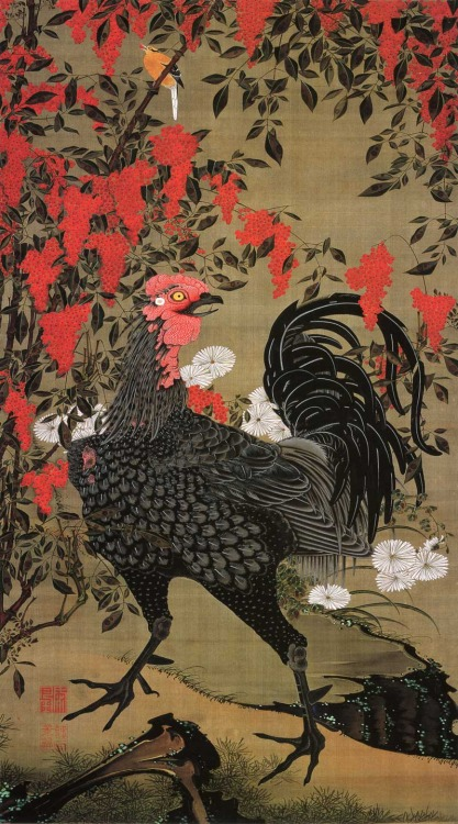Japanese Art: Rooster