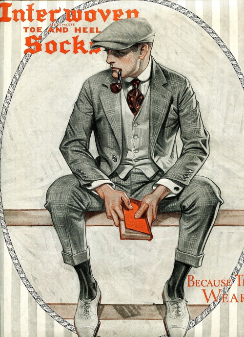 Leyendecker illustration for Interwoven Socks