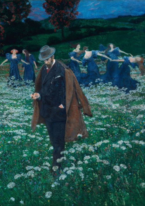 "Detail from ""A World"" by Maximilian Lenz, 1899"