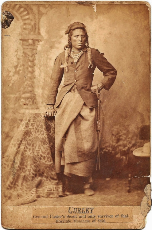 Curley,  Native American scout for US General Custer- and the only survivor of the massacre of 1870 (Custer's Last Stand)