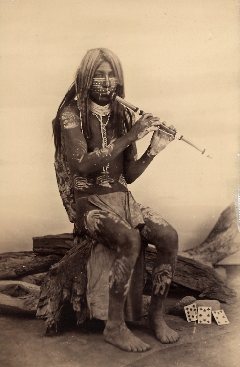 Native American: Yuma Musician, Arizona, 1800s