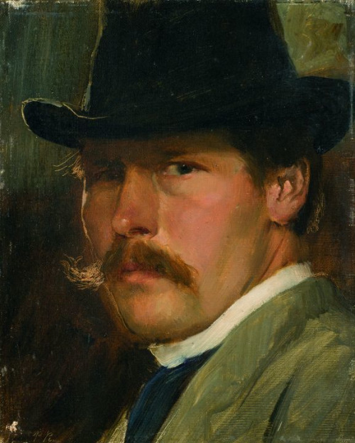 "Paul Raud, ""Self-Portrait with Hat"", 1900"