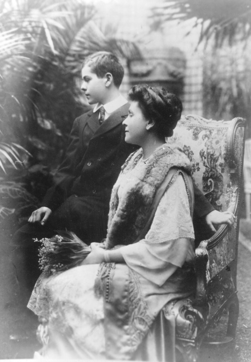 Princess Olga Valerianovna Paley with her son, Prince Vladimir
