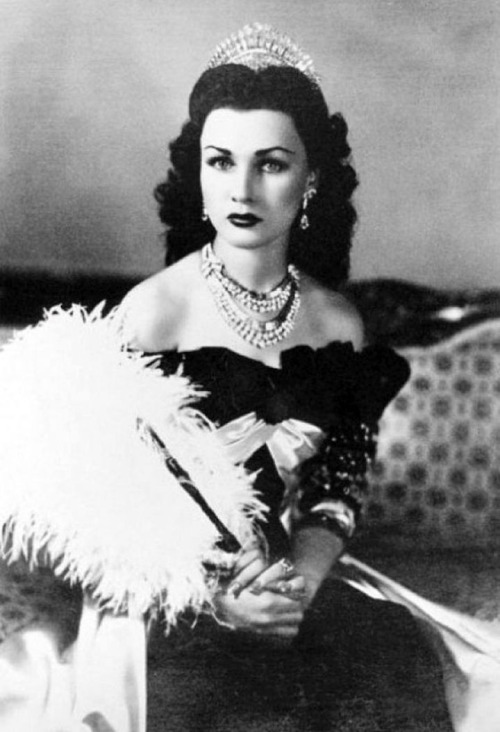 Queen Fawzia Fuad of Iran and Princess of Egypt, c. 1939