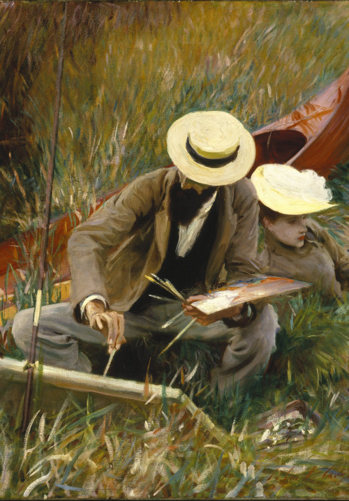 """""""An Out of Doors Study"""" by John Singer Sargent,1889"""